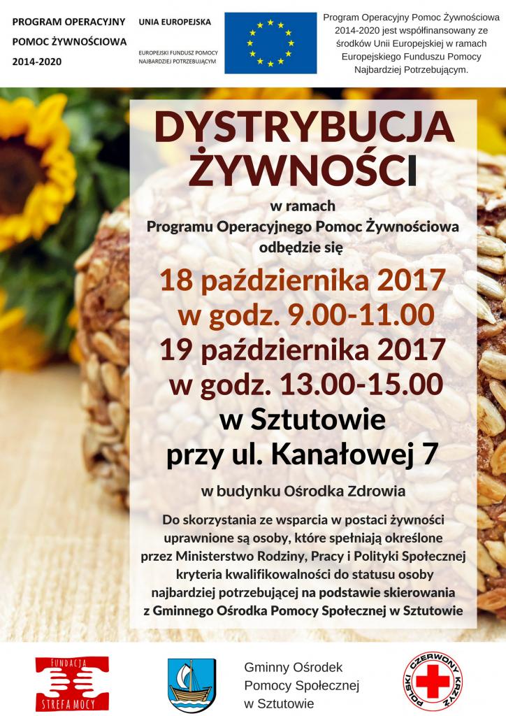 POPŻ dystrybucja 10.2017